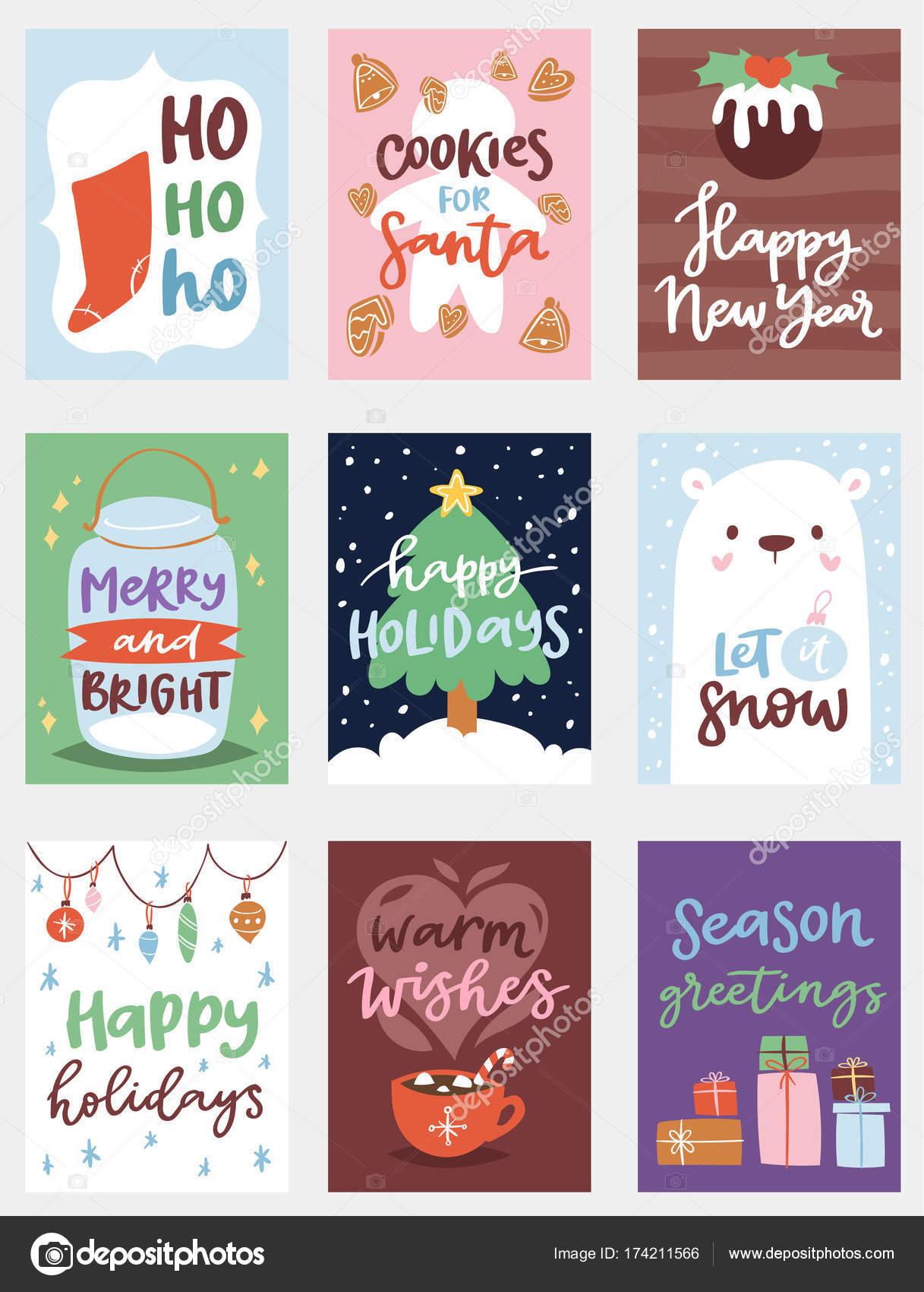 Carteles De Navidad Para Imprimir Plantilla De Diseno De Tarjeta