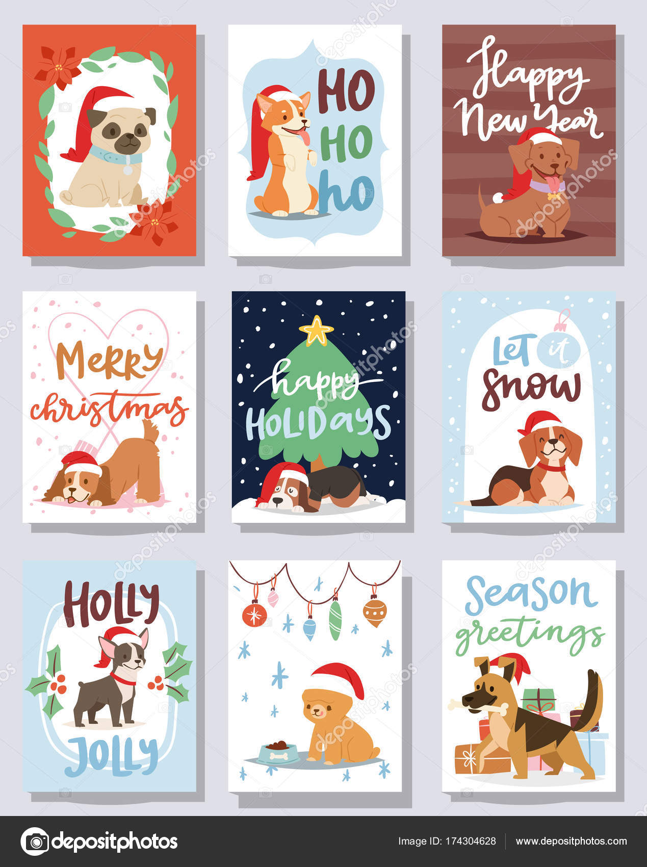 animé noel 2018 dessin images Vecteur de carte Noël 2018 chien mignon dessin animé chiot  animé noel 2018 dessin images