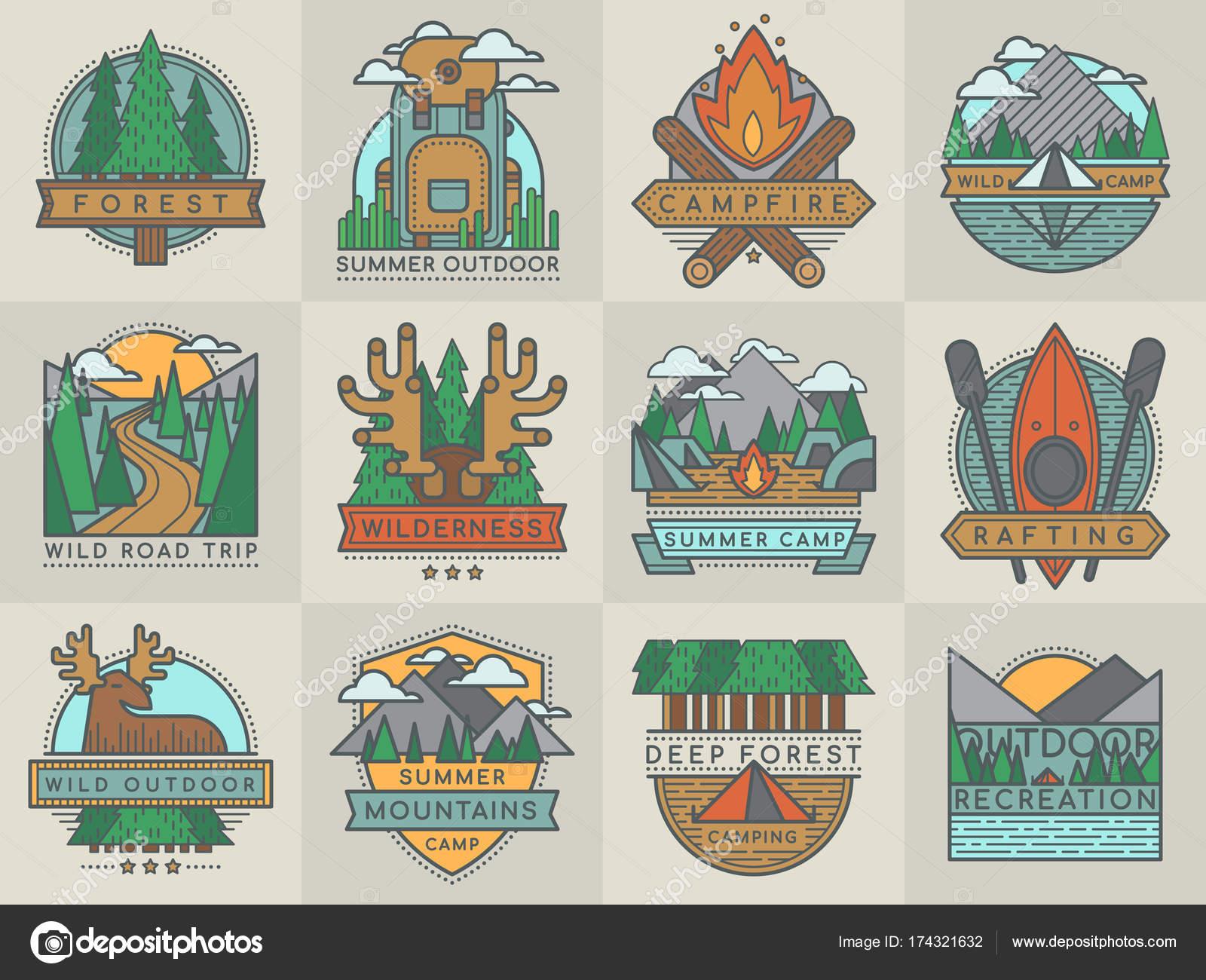 Camping turístico al aire libre viajes insignia scout insignias ...
