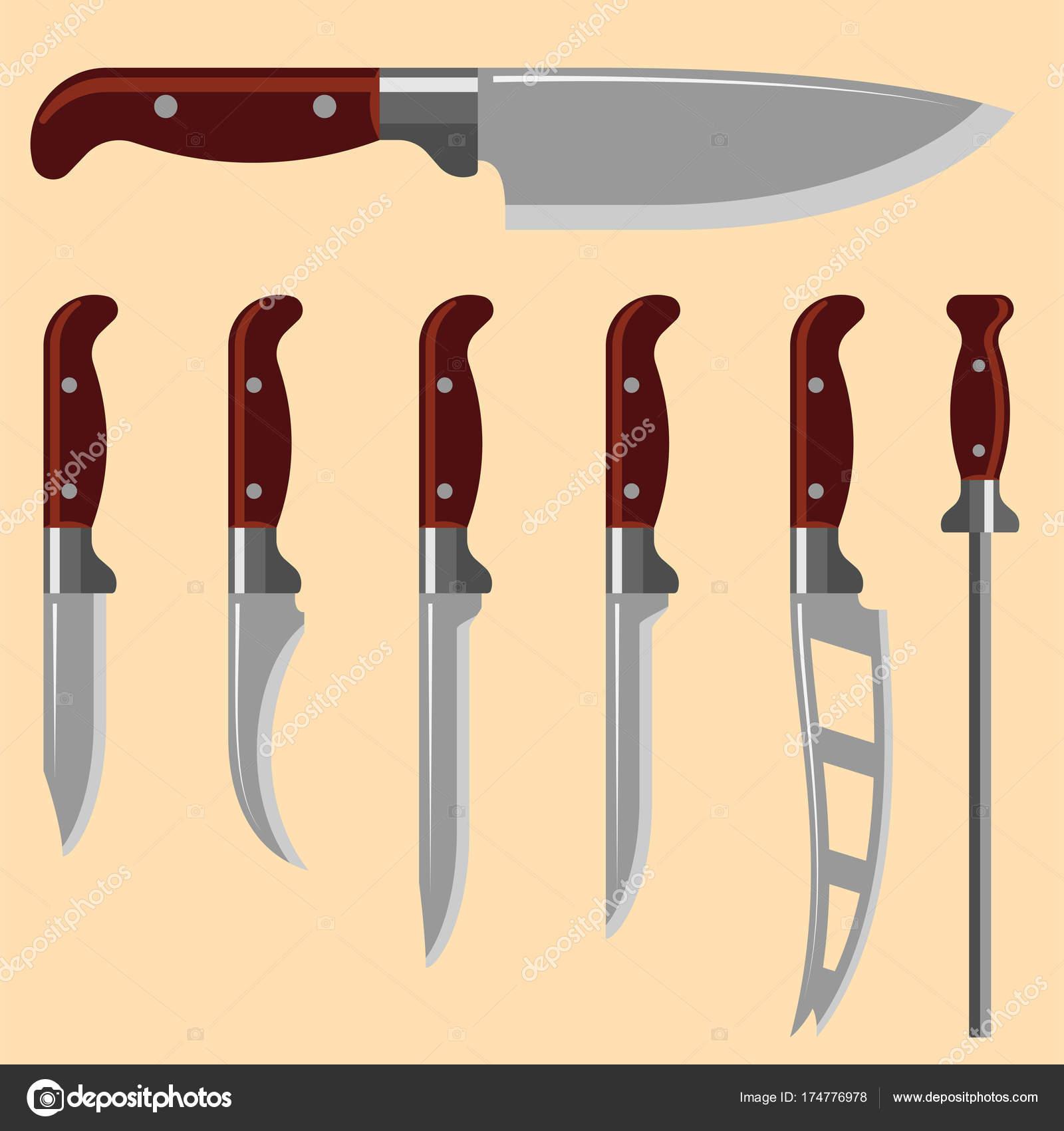 Kuche Messer Waffe Stahl Spitzen Dolch Metall Militarische