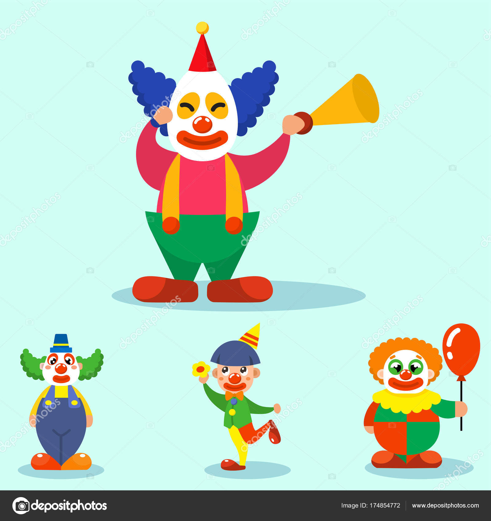 clown cute characters performer carnival actor makeup juggling human