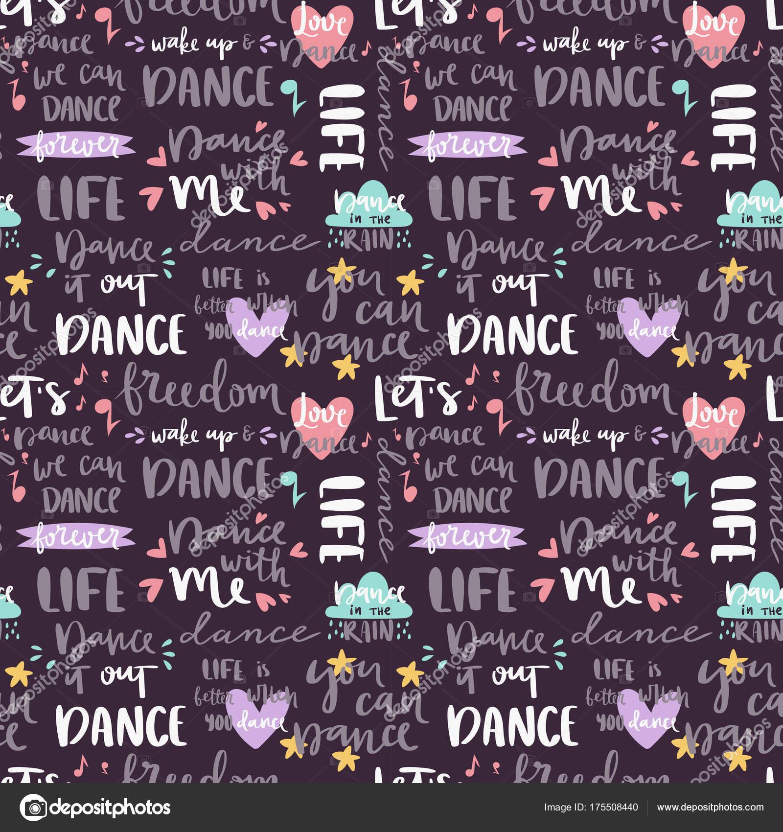 Imágenes Dj Con Frases Handdrawn Letras Amor Danza Y Música Citar