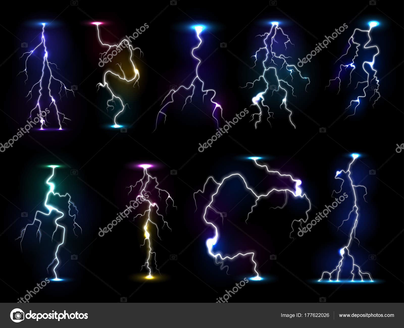 lightning flash thunder vector thunderstorm with flashing light and electricity blast storm or thunderbolt illustration isolated on black background stock vector c vectorshow 177622026 https depositphotos com 177622026 stock illustration lightning flash thunder vector thunderstorm html