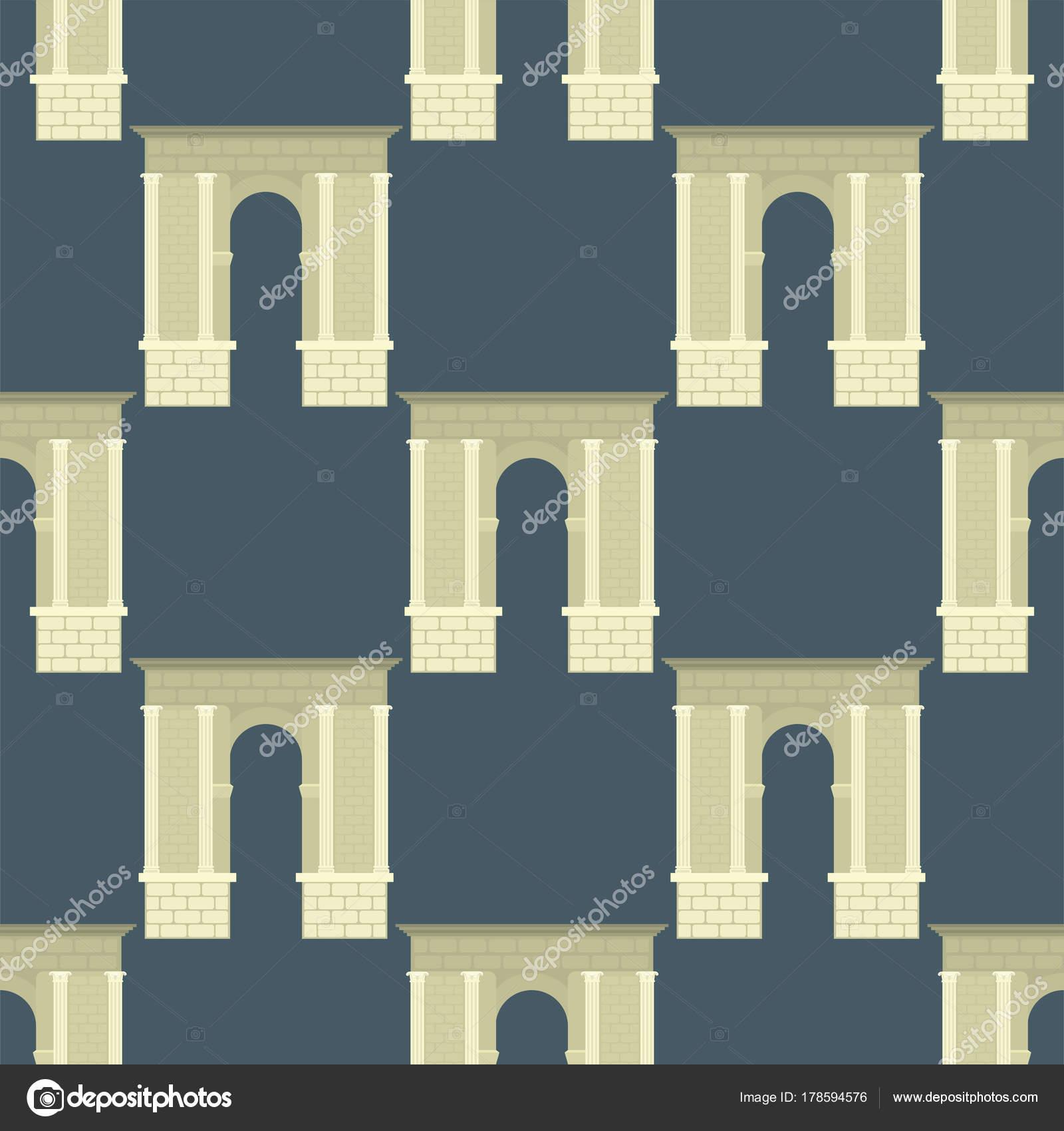 Arco de vector arquitectura construcción marco columna entrada ...