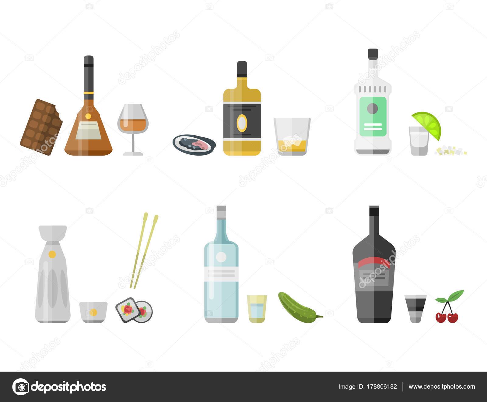 Alkohol Getränke Getränke cocktail Vorspeise Flasche Lager Container ...