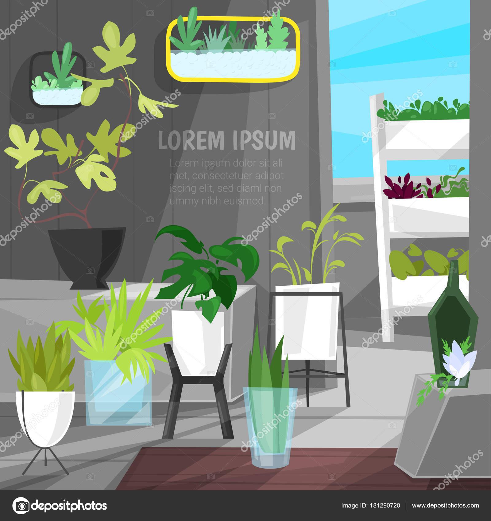 Planten in bloempotten vector ingegoten kamerplanten binnen botanic cactussen Alo voor inrichting van huis met bloemen