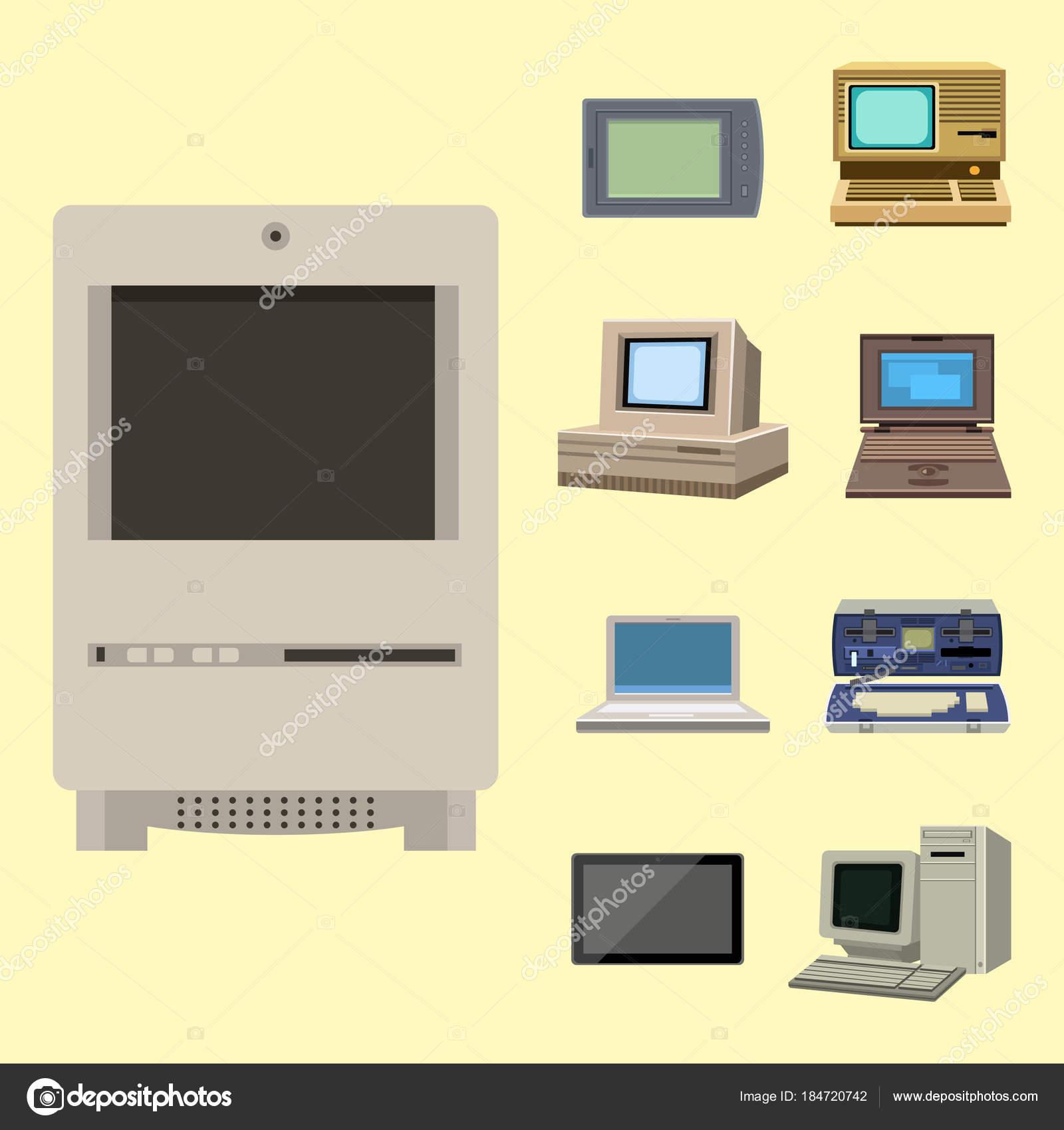 Mostrar la evolución de vector la tecnología informática ...