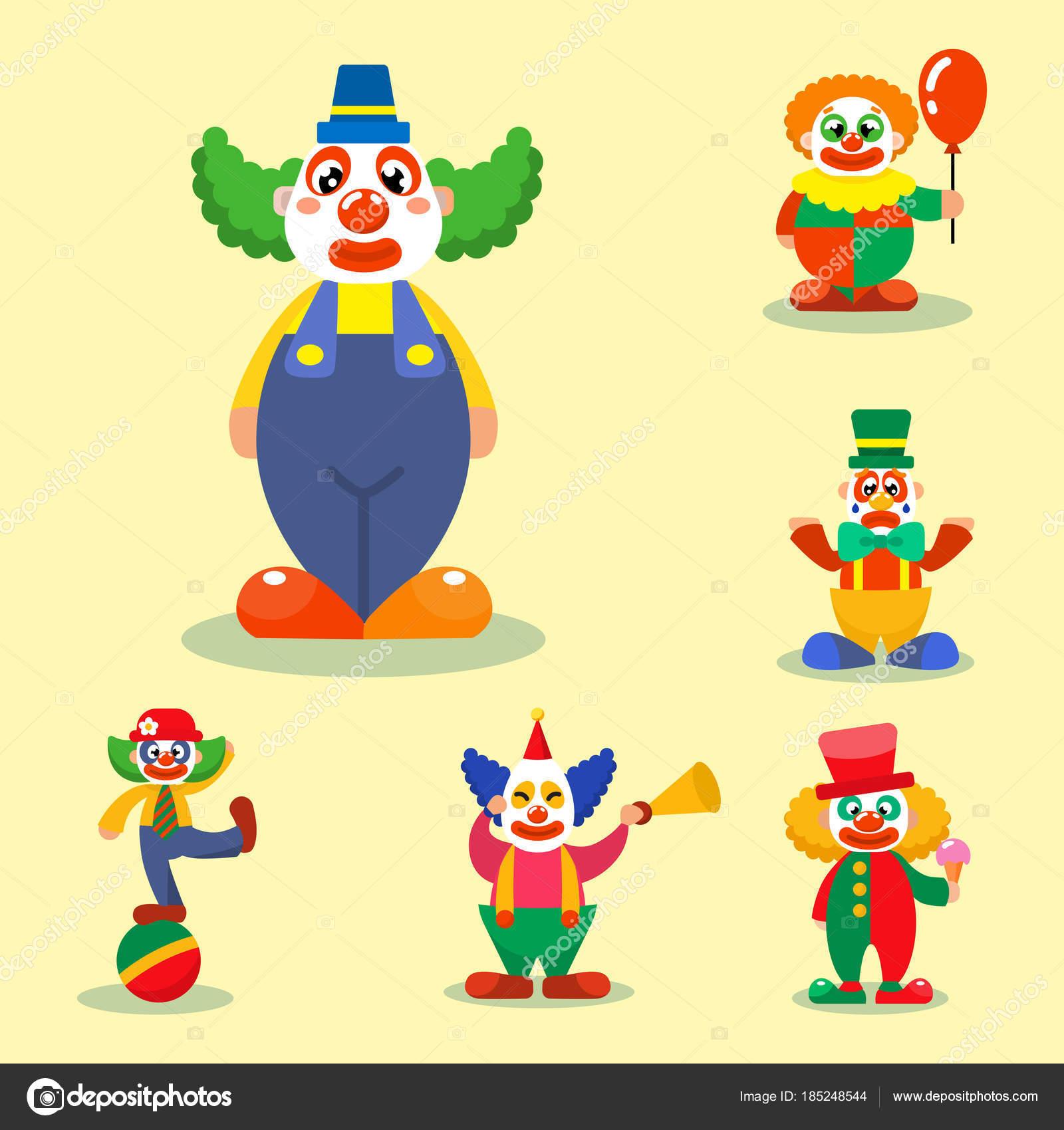 Clown-Vektor-Zirkus-Mann Zeichen Performer Karneval Schauspieler ...