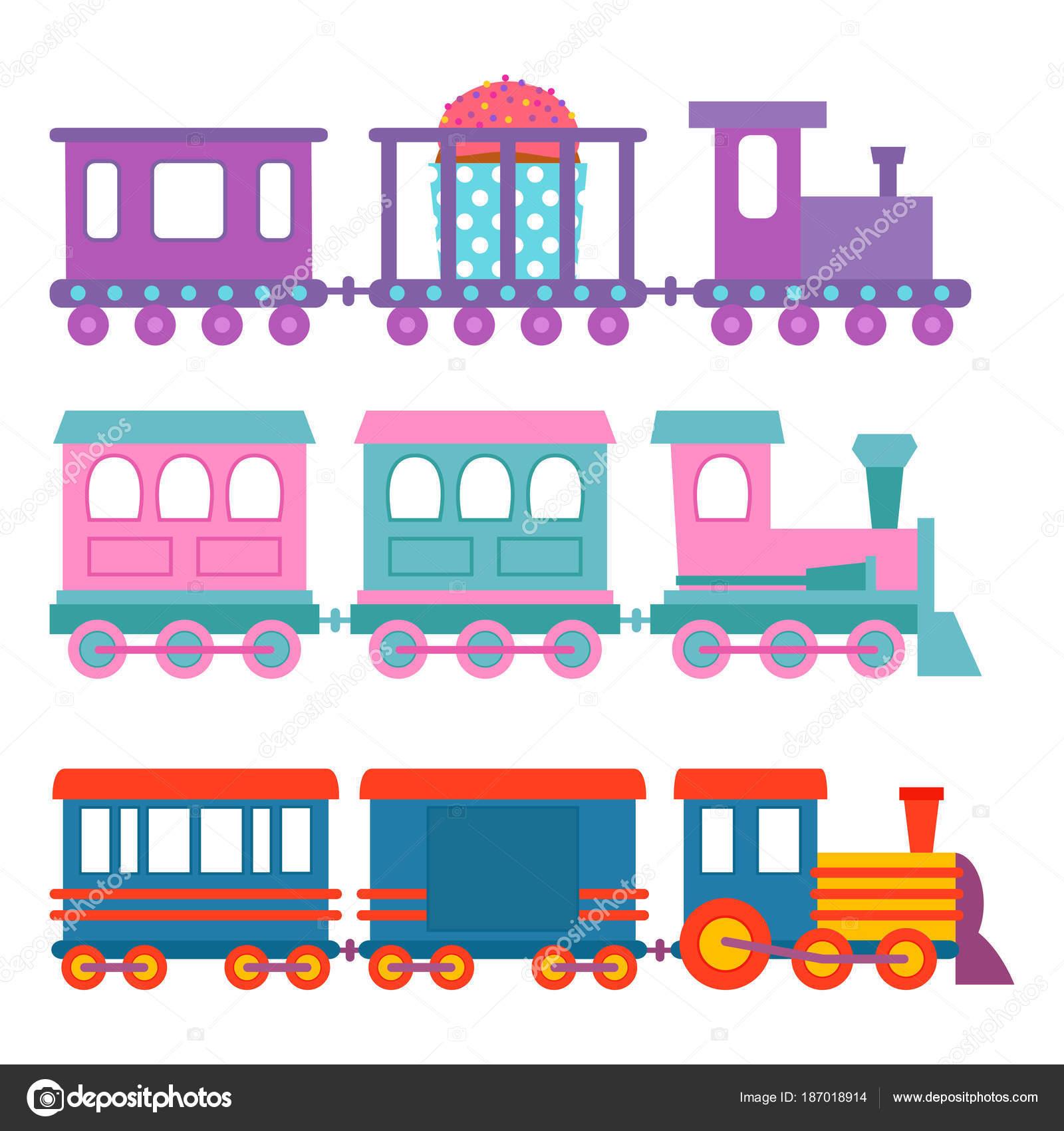 Vectorizado Tren Infantil Regalo Juego Niños Tren Vector Viaje