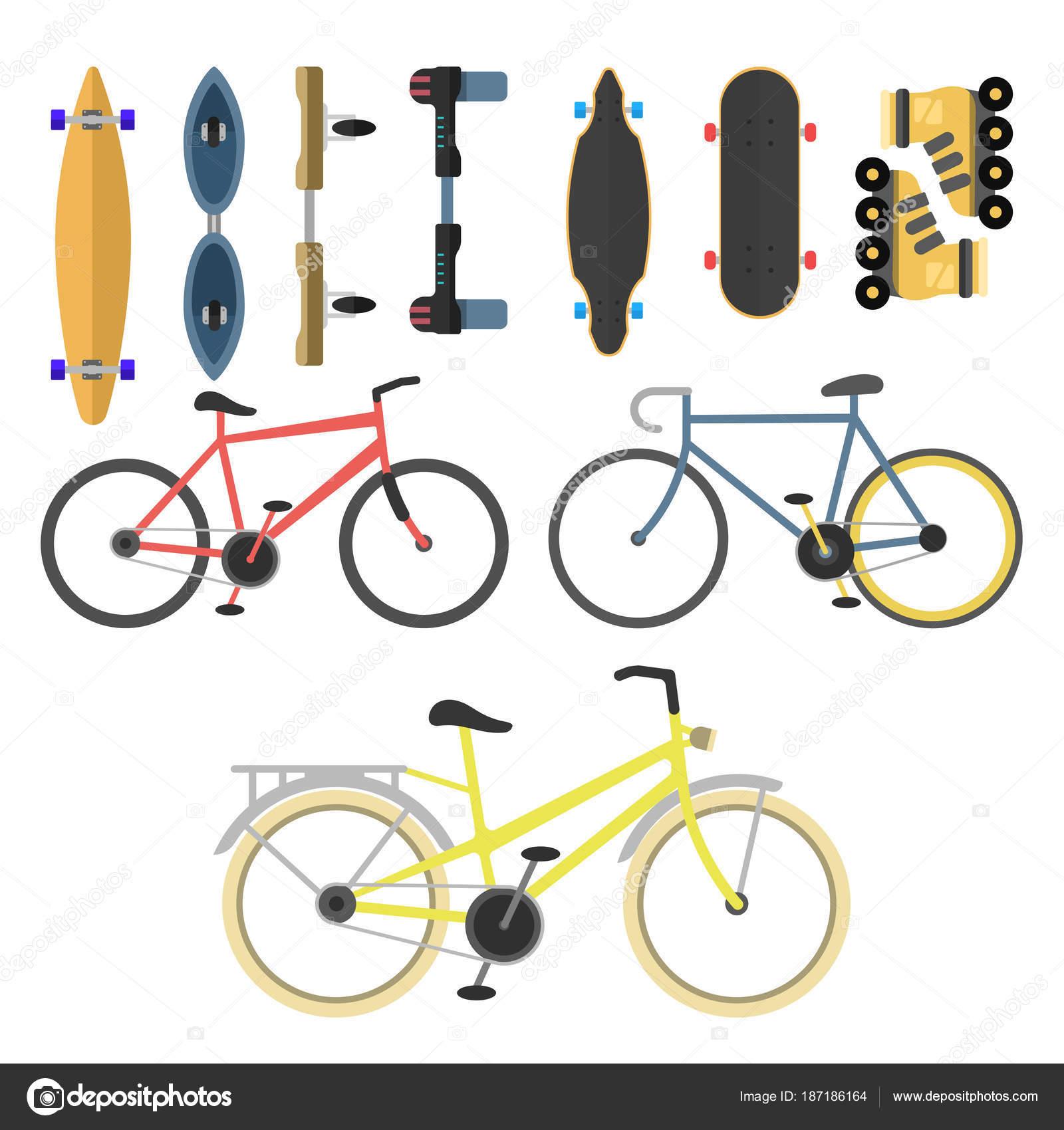 Aktive Stadt Transport öko Alternative Energie Fahrrad Roller Eine