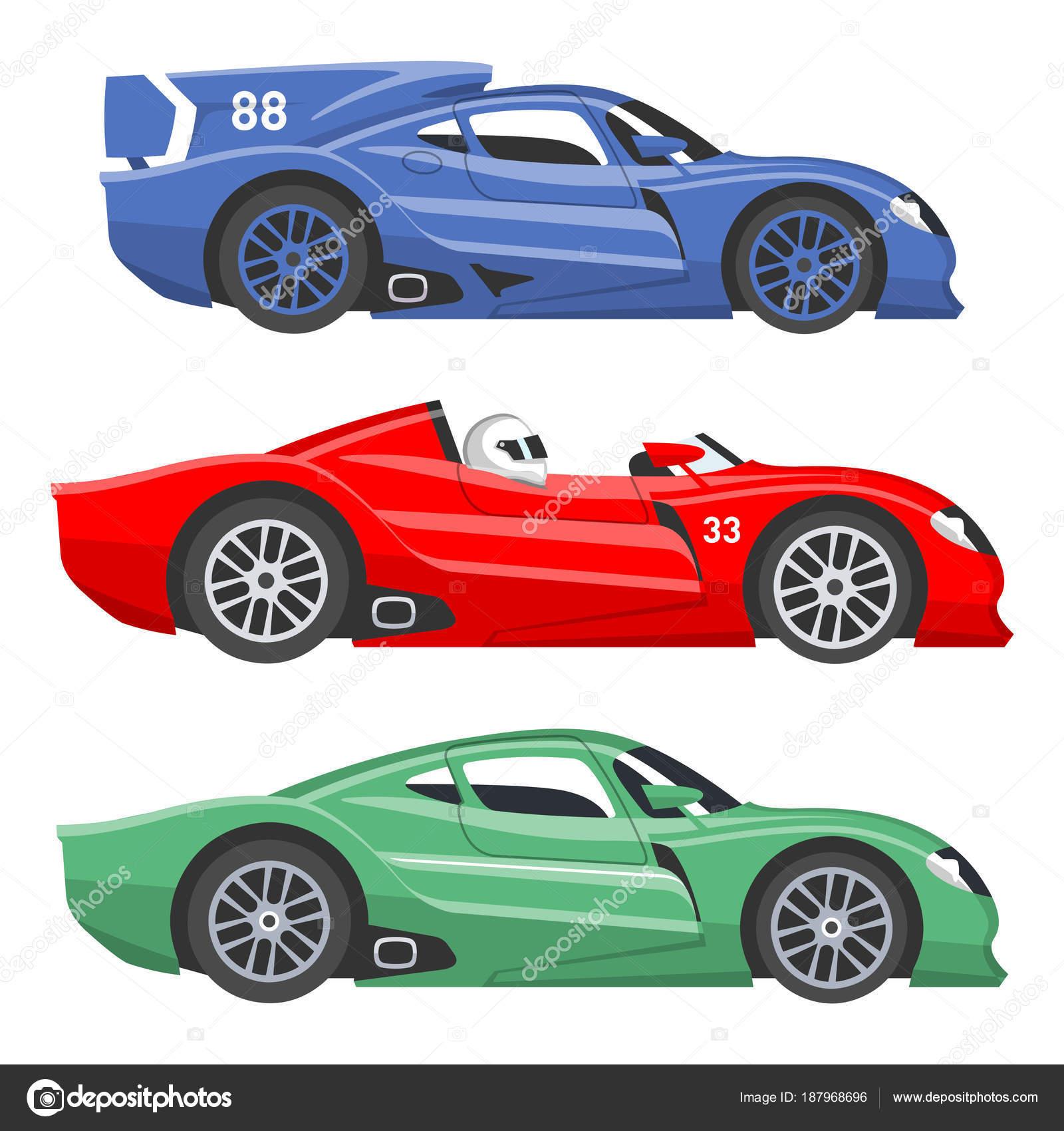 Sport Rennen Auto Vektor Geschwindigkeit Automobil Und Offroad