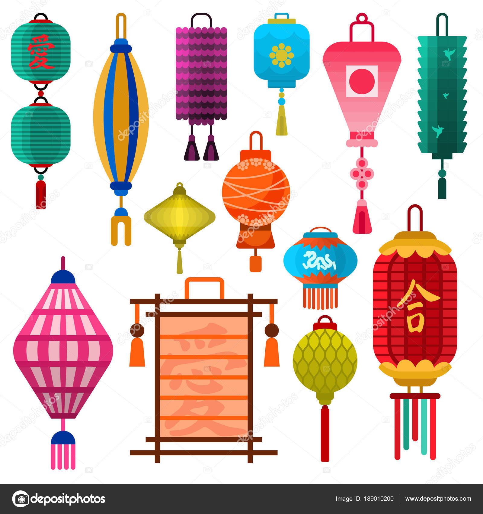 Vacances De Lightertraditional Lanterne Chinoise Vecteur Papier