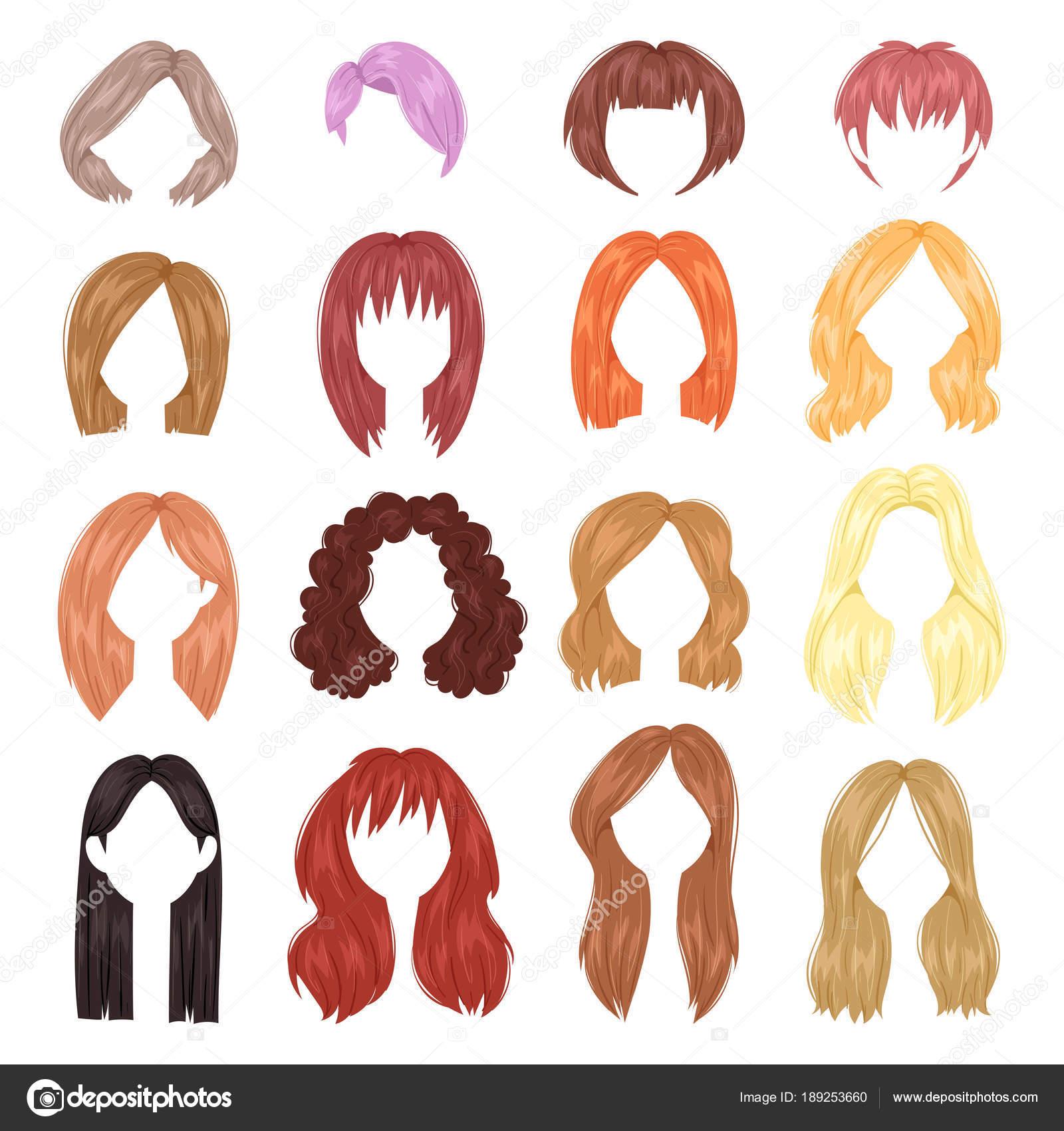 Peinado Mujer Vector Mujer Corte