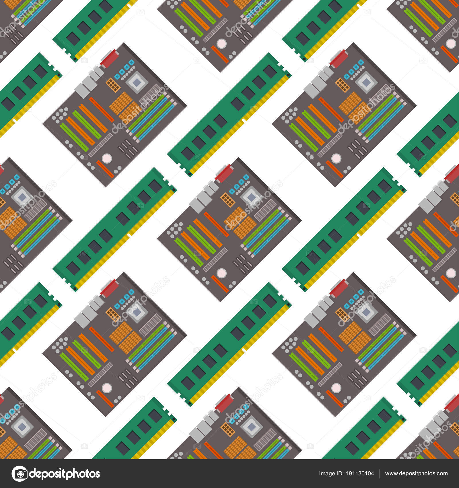 Computer-Chip-Technologie Prozessor Musterdesign Hintergrund ...