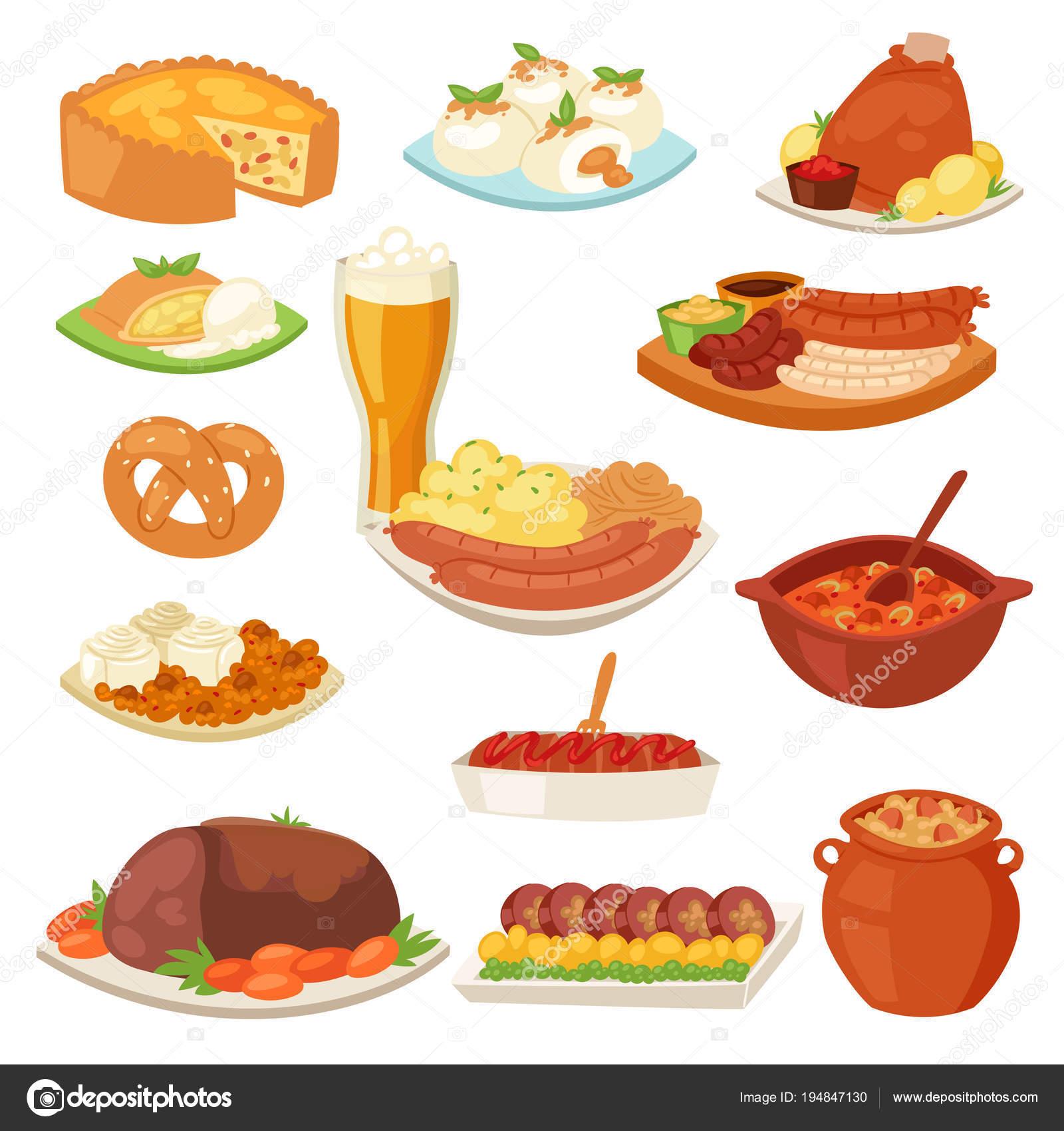 ドイツ料理は、ドイツの伝統的な料理をベクトルし、バイエルンの軽食と