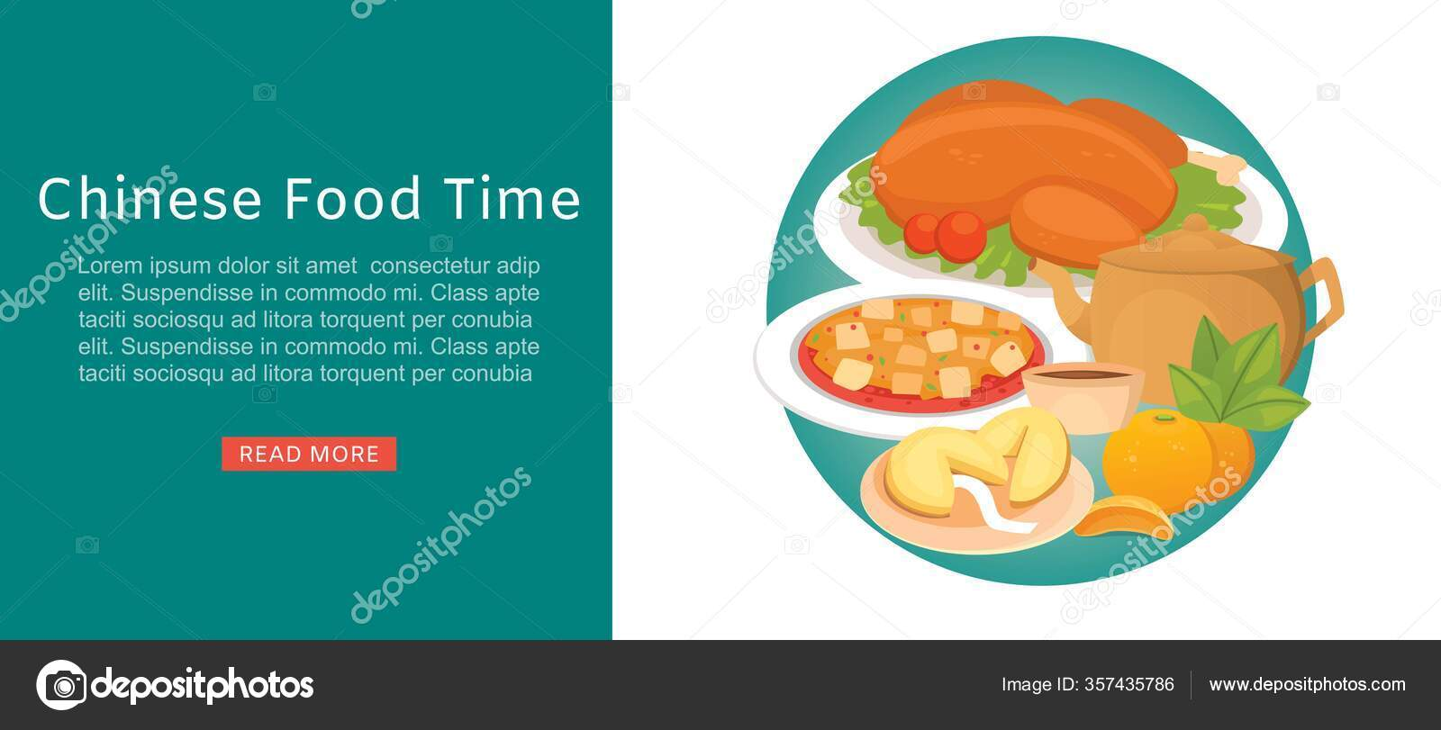 Chinese Food Time Oriental Street Restaurant Or Homemade Food Banner For Ethnic Menu Vector Illustration Stock Vector C Vectorshow 357435786