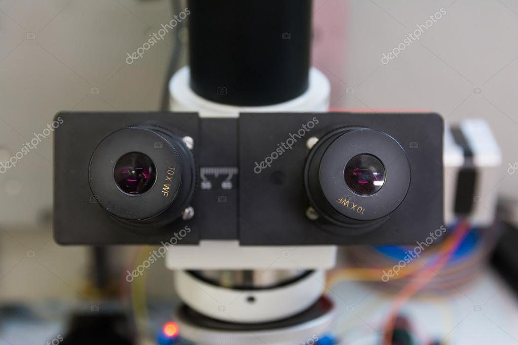 Mikroskop kamera gerät drucken prüfen industrie qualität maschine