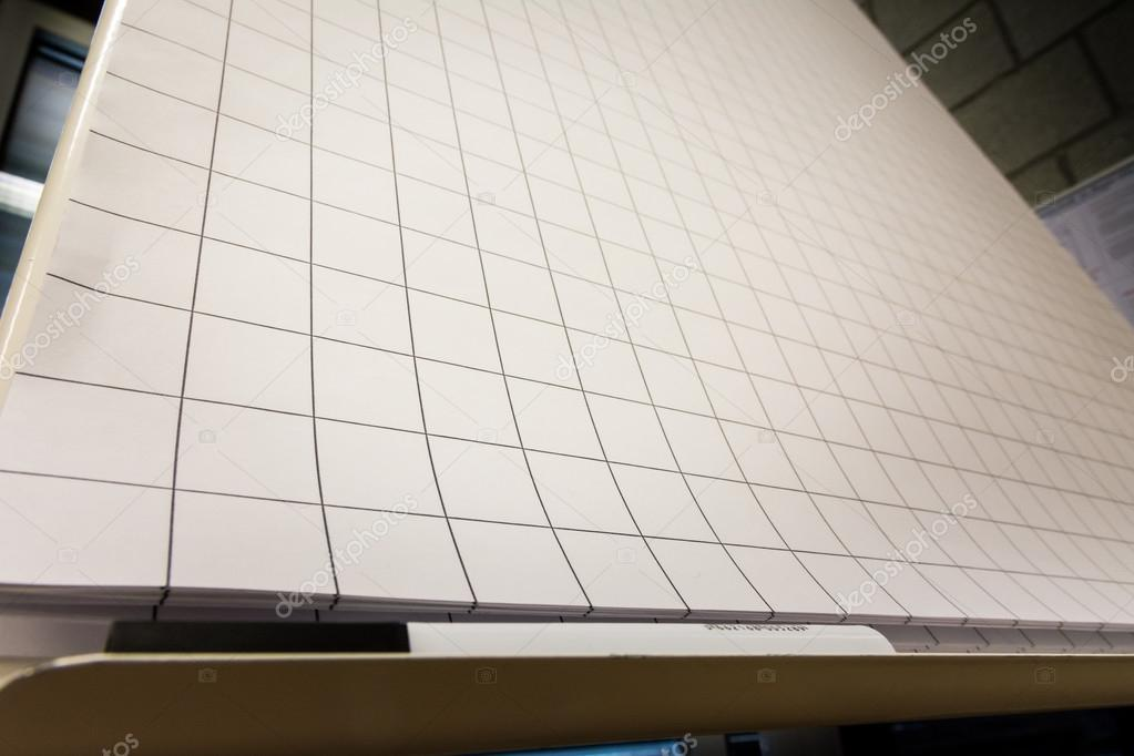 Grid Paper Flipchart Large Sheets Brainstorming Empty Blank Blac