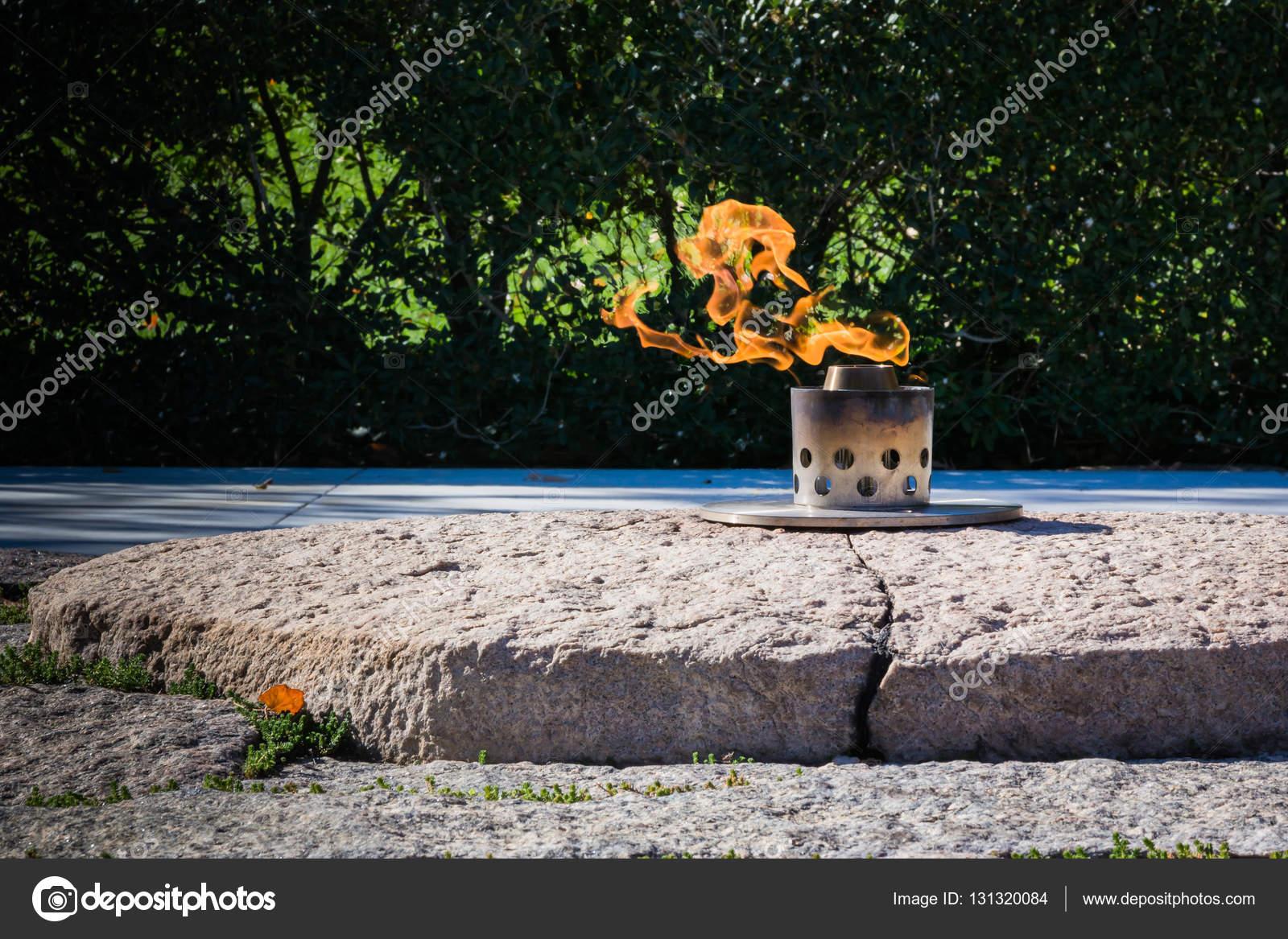 Ewige Flamme John F Kennedy Memorial Grab Arlington Cemetery