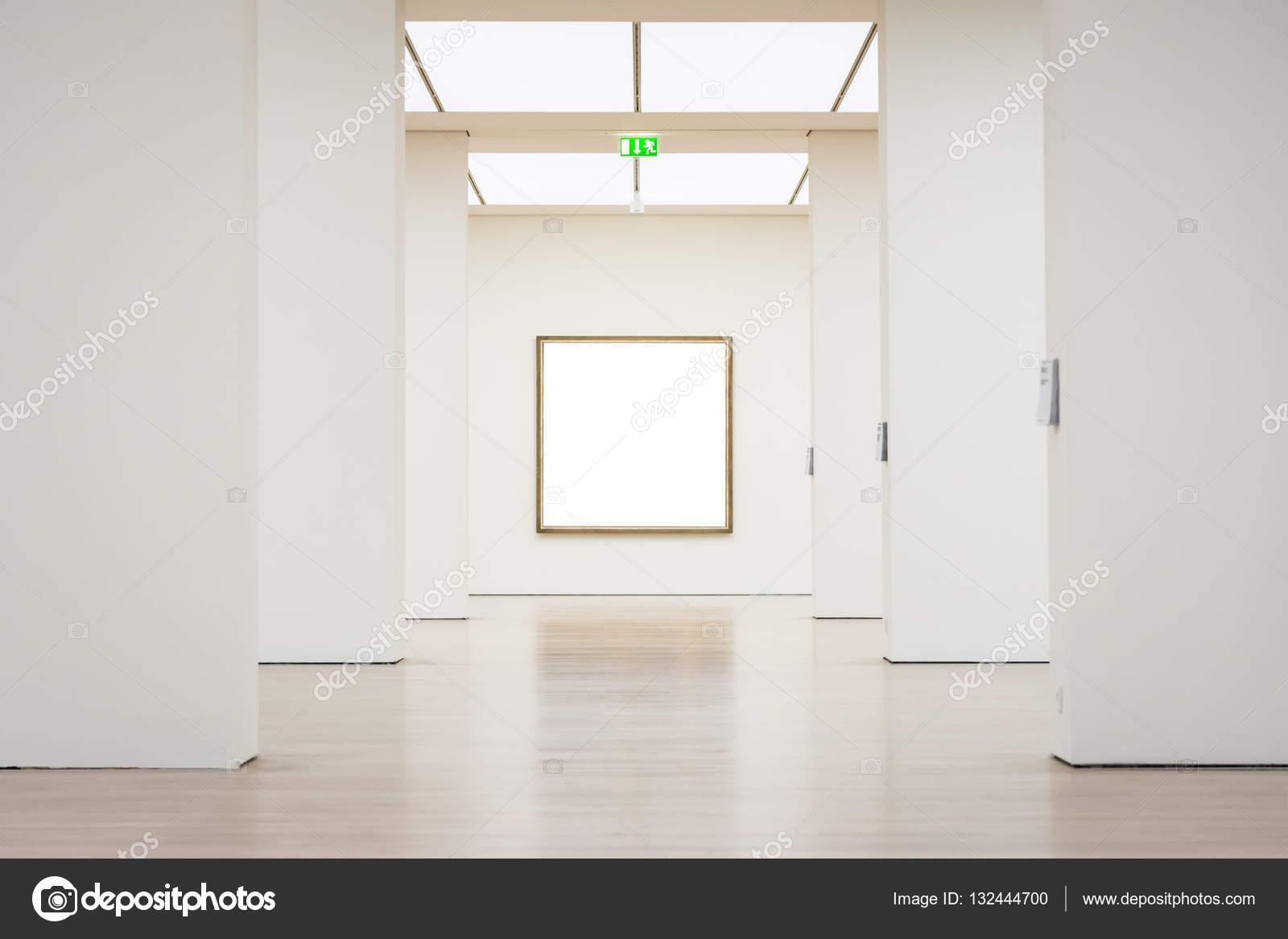 Museo de arte moderno marco pared recorte Vector blanco camino ...