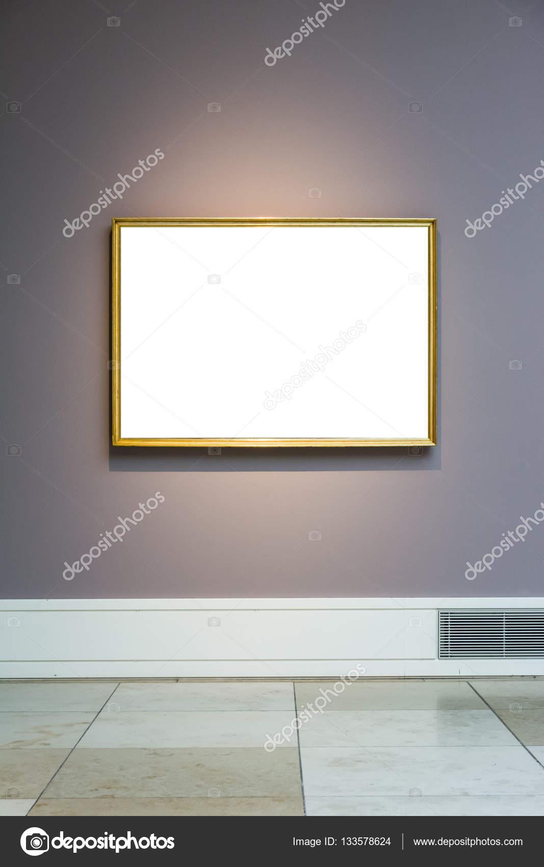 Museo de arte marco pared azul claro adornado diseño minimalista ...