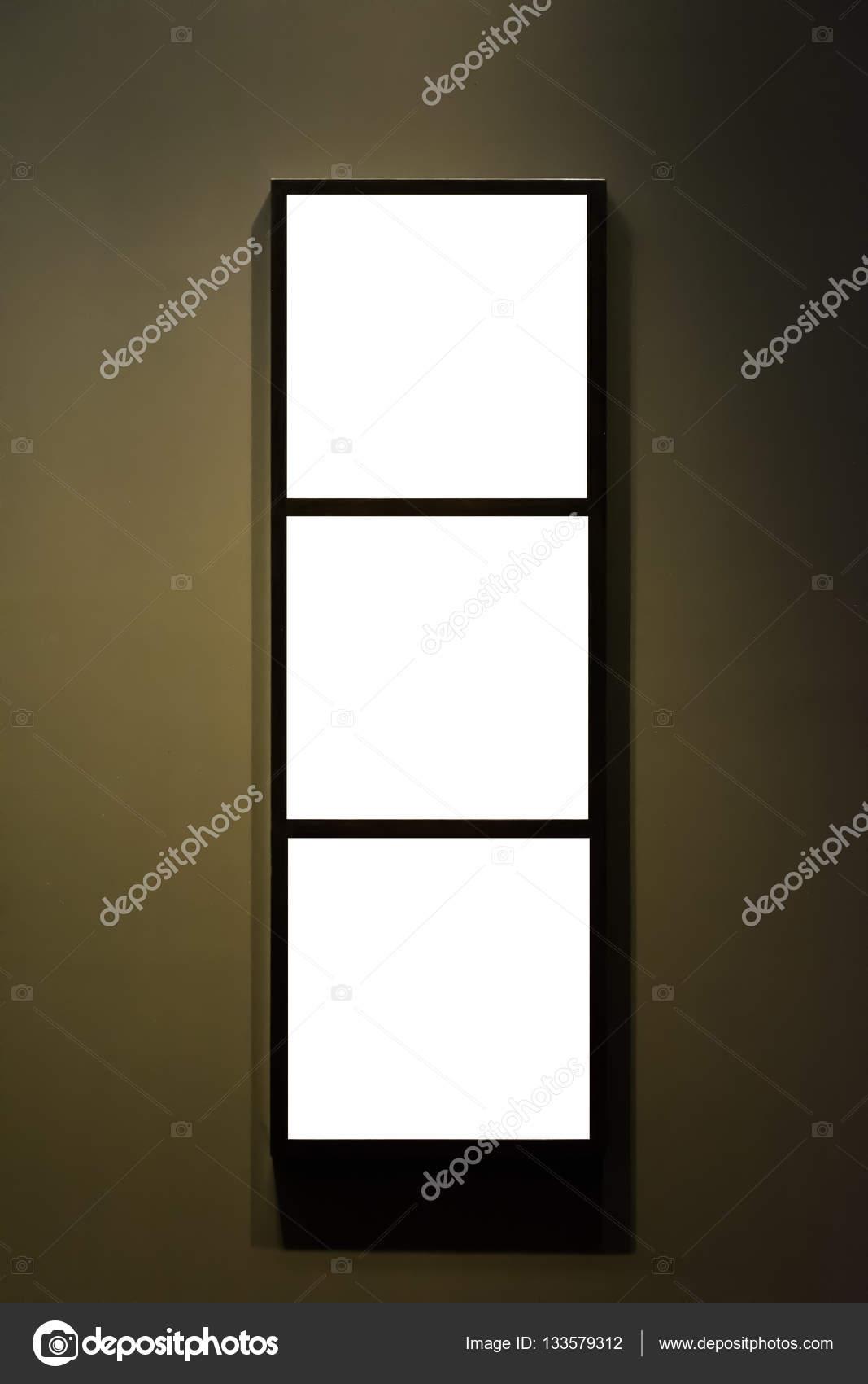 Kunstmuseum Rahmen Wand verzierten minimalistisches Design weiß ...