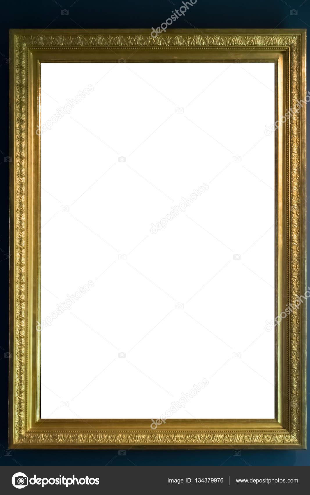 Museo de arte marco Vintage adornado pintura cuadro recorte en ...