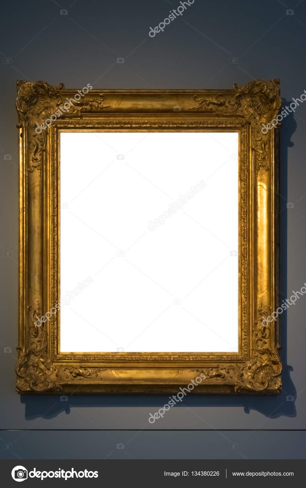 Art Museum Frame Vintage Ornate Painting Picture Blank Clipping ...