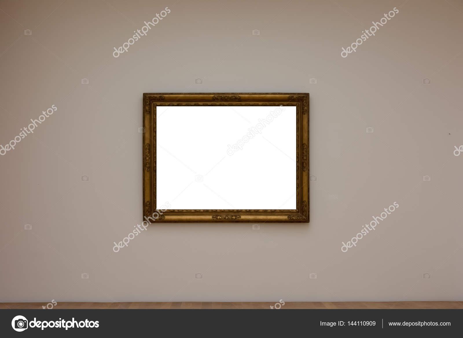 Leere weiße Kunst Galerie Rahmen Bild Wand weiß zeitgenössischen Mo ...