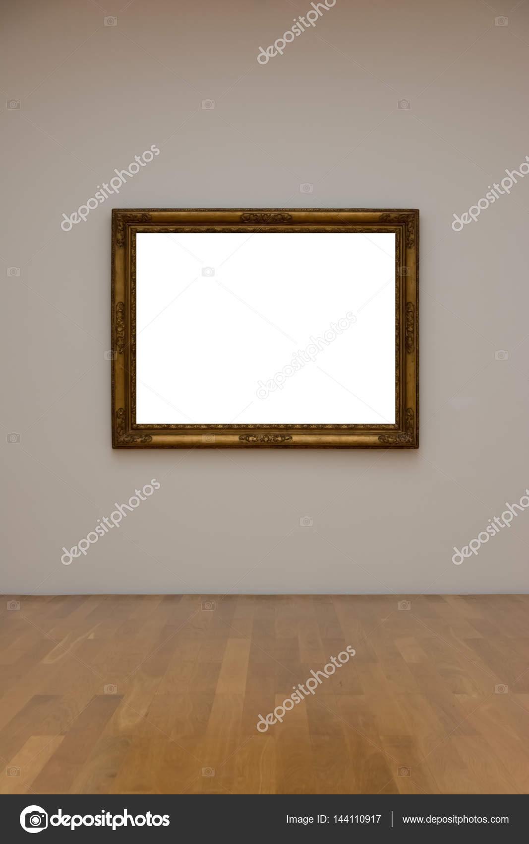 Galería de arte en blanco blanco marco cuadro pared blanca Mo ...