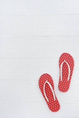 Red sandals isolated on white background