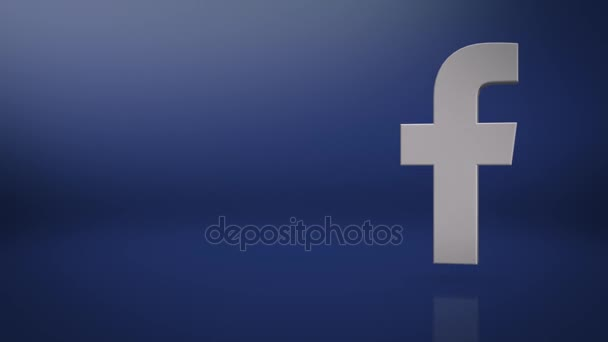 Facebook Icon Text Background Stock Video