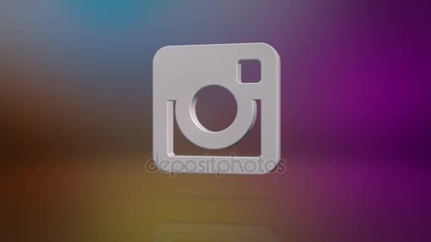 Instagram-Symbol Bewegungshintergrund