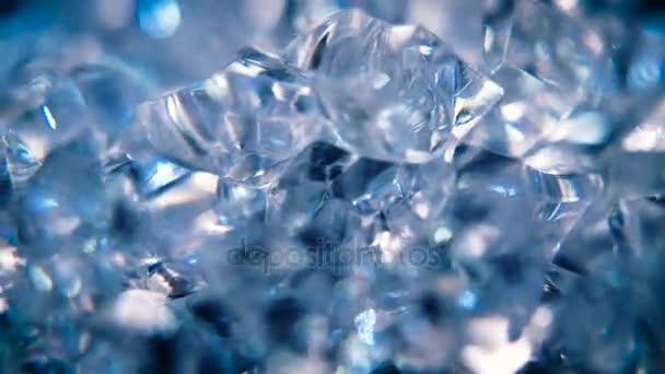 Forgó kék kristályok mozgó háttér