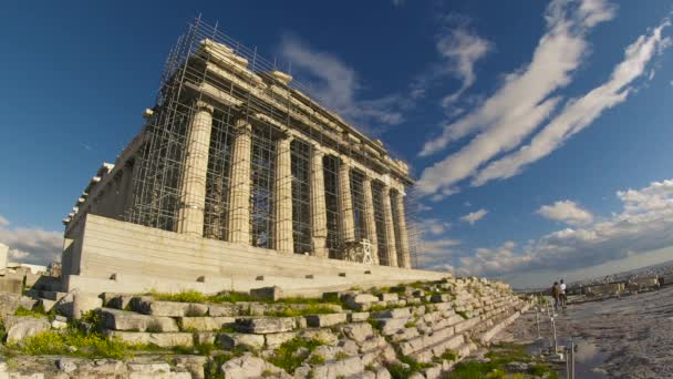 The Parthenon being Revitalized. The Acropolis is one of the most important ancient monuments in the world with archaeological structures including: The Acropolis, Erechtheion, Parthenon, Propylaea, and more.