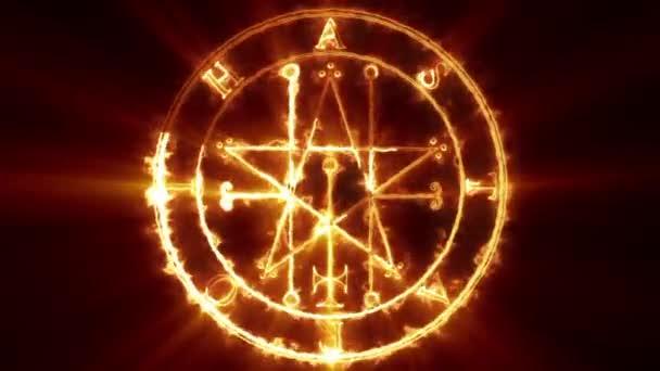 Astaroth okultní Symbol smyčka
