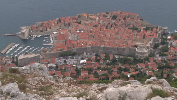 View over Dubrovnik city  from Fort Imperial