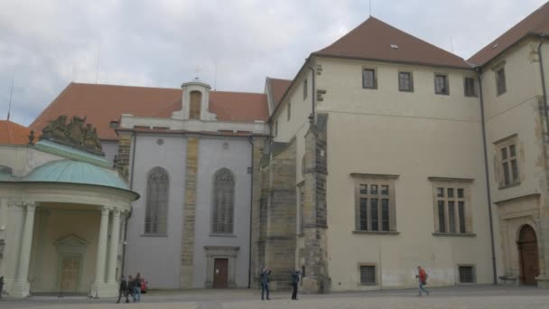 Široká pánev přes náměstí za katedrály sv. Víta v Praze, Česká republika