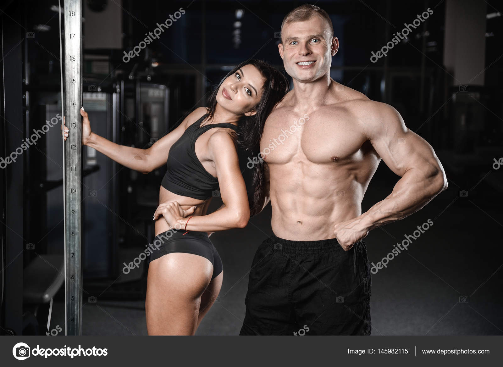Muscle joy in the gym