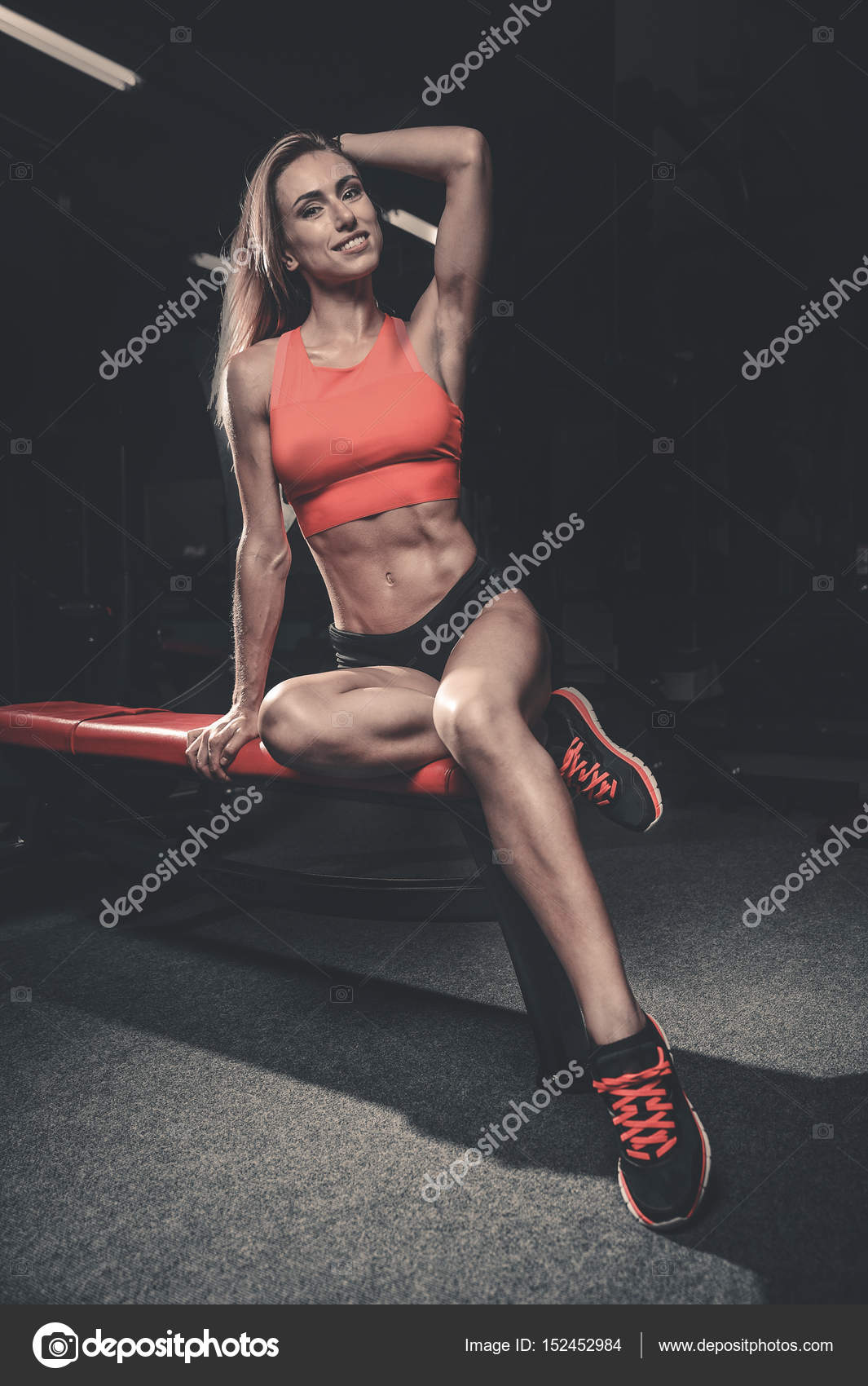 Fitness Sexy Mode On Diet With Long Female Legs Gy Stock Photo