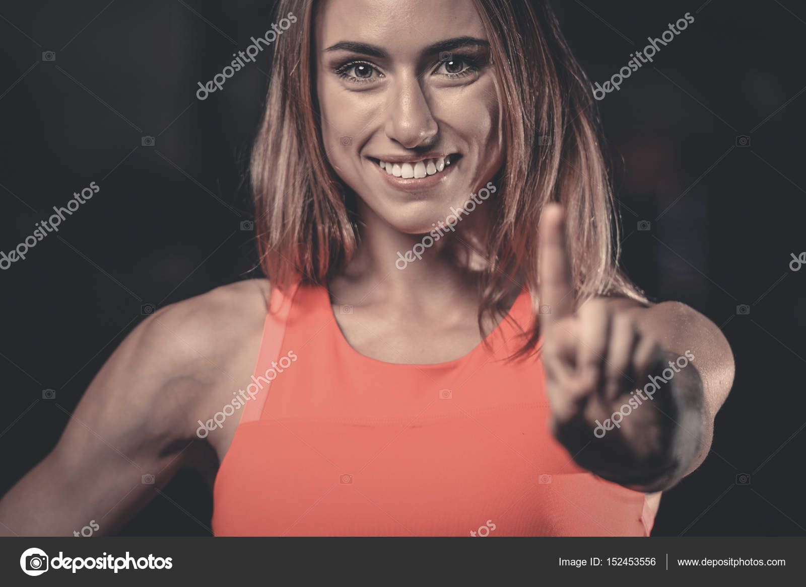 Sexy smile hand — 1