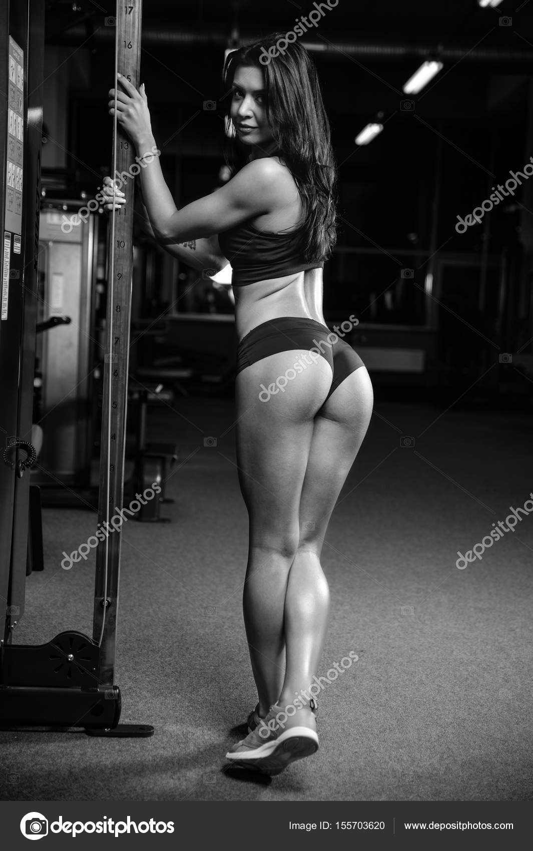 pretty fitness sexy model luxury ass fat burning concept — stock