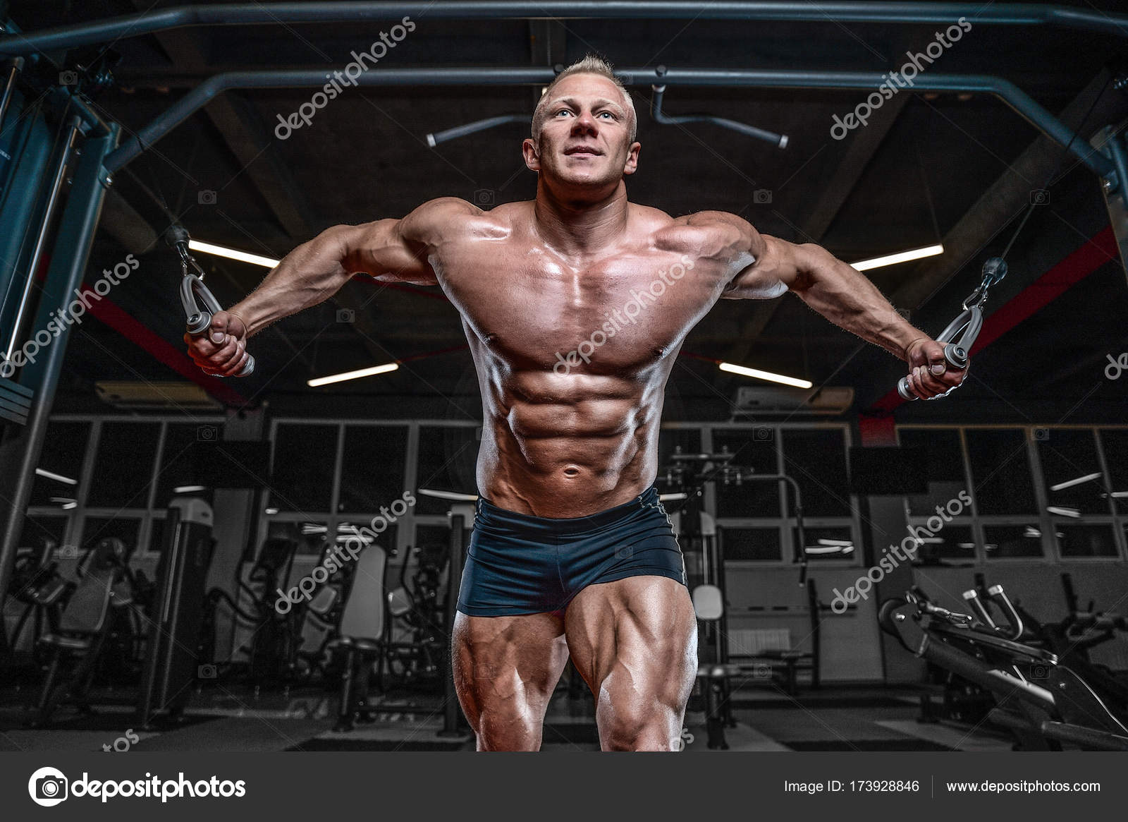 How to pump up the pectoral muscles 4