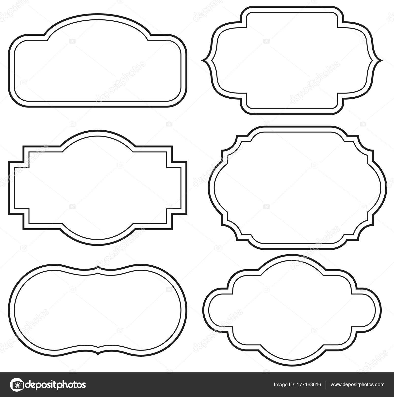 Vector sets etiquetas vintage y marco — Vector de stock © pvl0707 ...