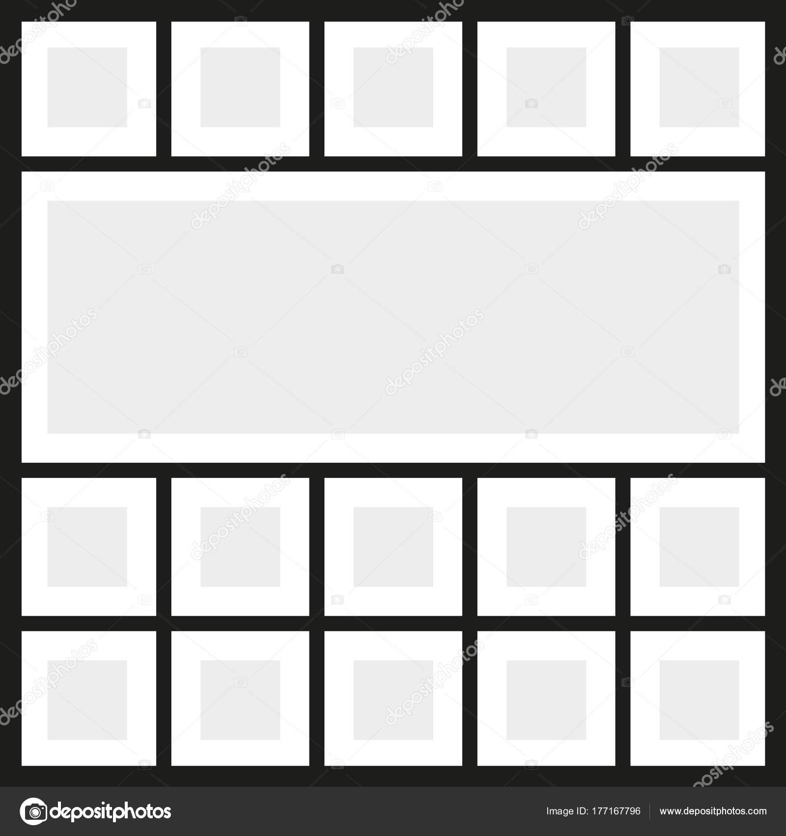 Collage de fotos de marcos de vector — Vector de stock © pvl0707 ...