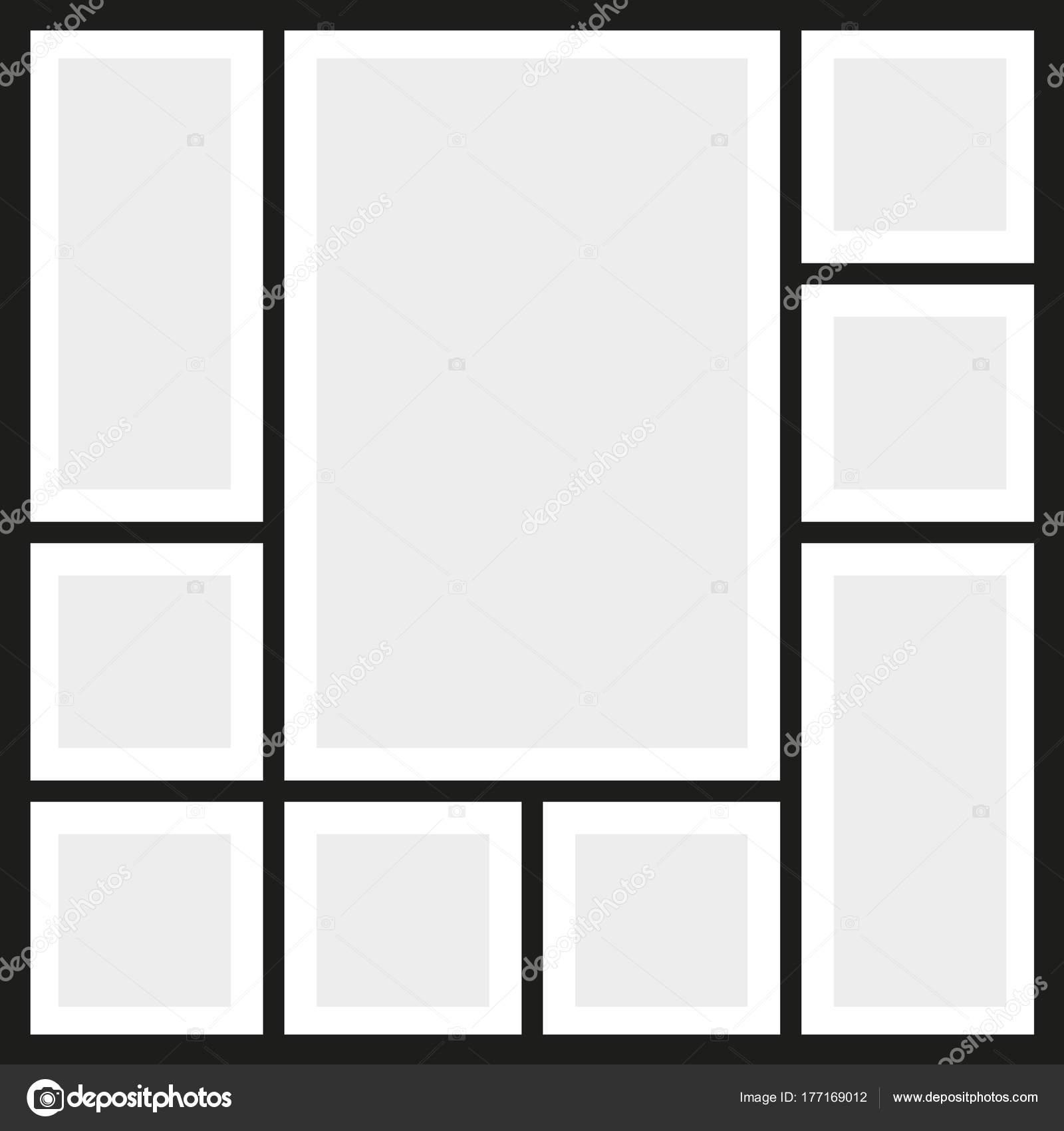 Collage de fotos de marcos de vector — Archivo Imágenes Vectoriales ...