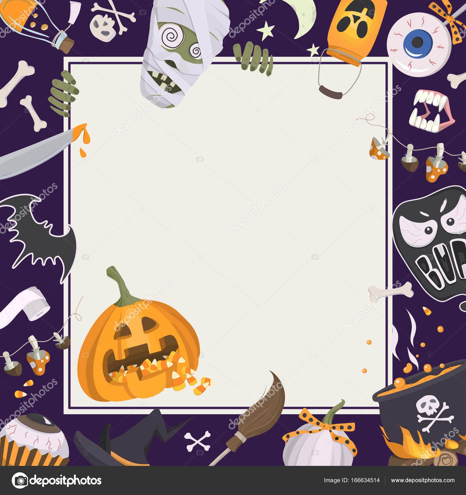 2019 year look- Halloween Happy frame pictures