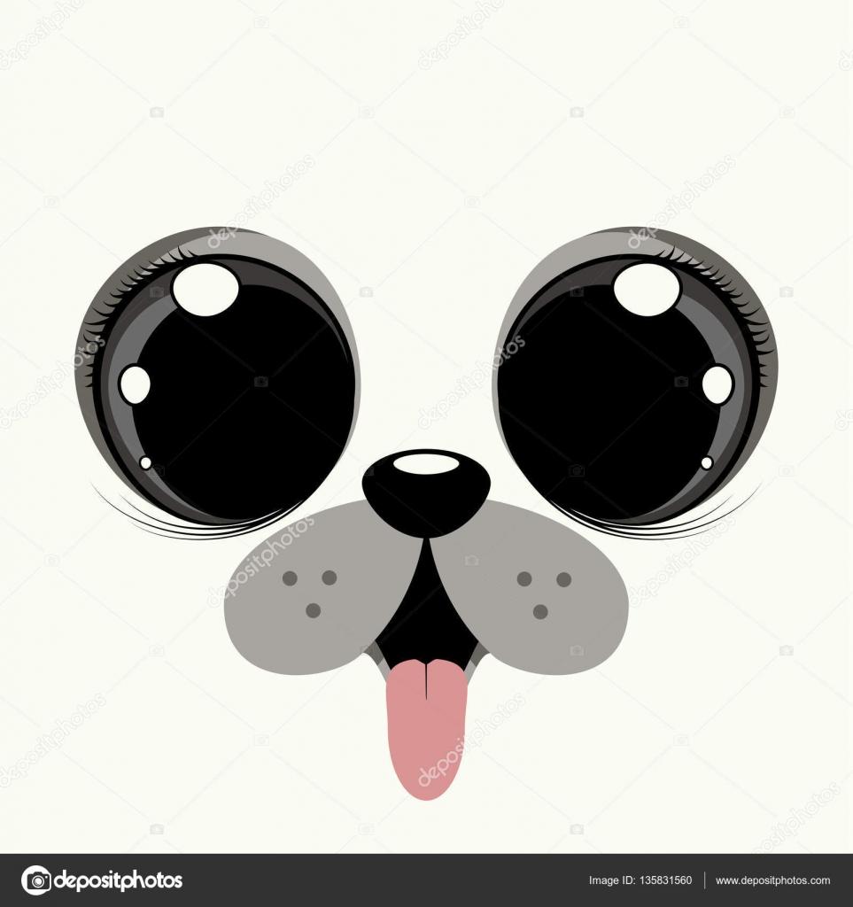 a puppy dog with big eyes stock vector natalia ermakova 135831560 rh depositphotos com Dogs with Big Eyes cartoon dog with big droopy eyes