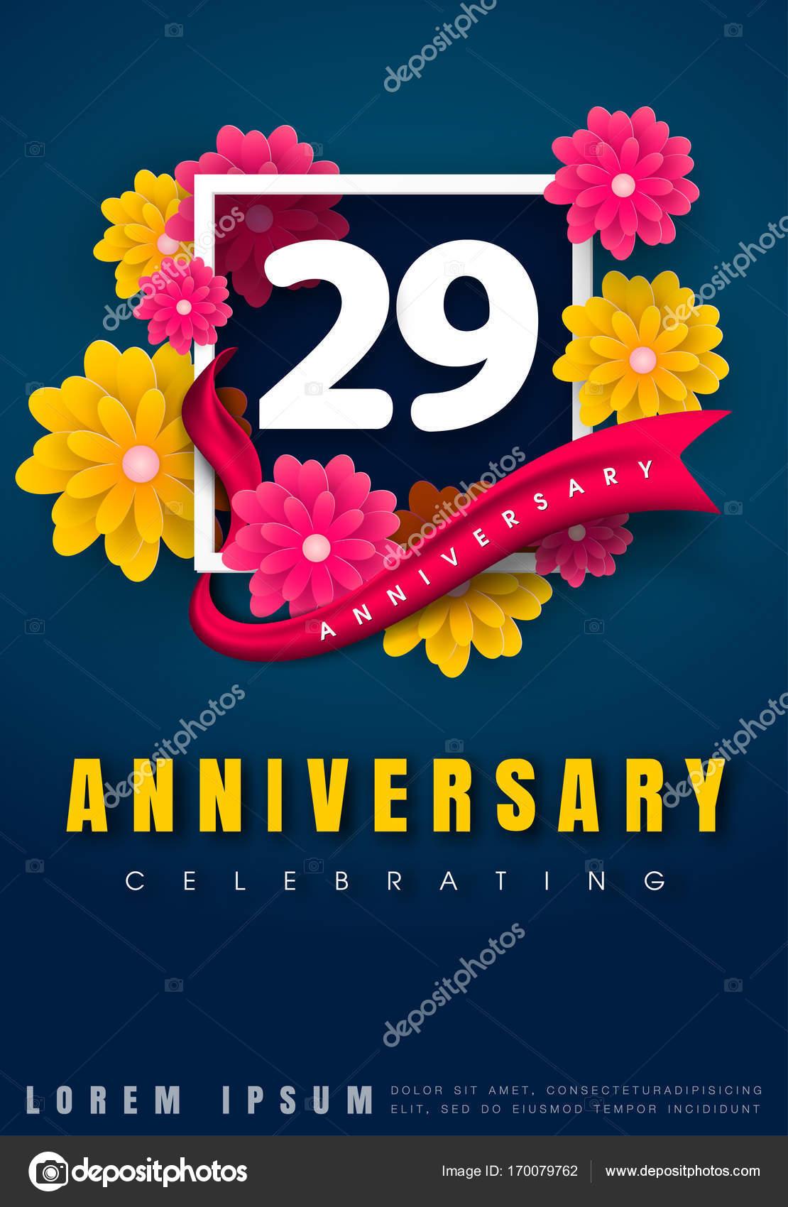 Diseño De Plantilla De Tarjeta De Invitación De Aniversario