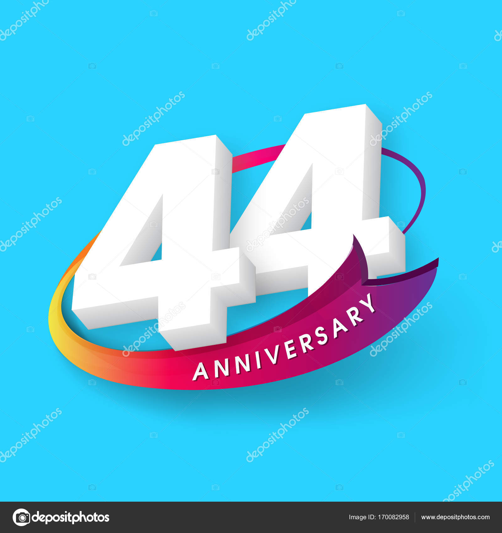 Anniversary emblems 44 anniversary template design stock vector anniversary emblems 44 anniversary template design stock vector biocorpaavc Gallery